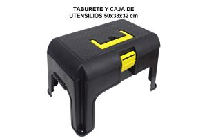 TABURETE Y CAJA DE UTENSILIOS
