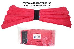 FREGONA MICROF.TIRAS IND KENTUCKY 350 GRS ROJA