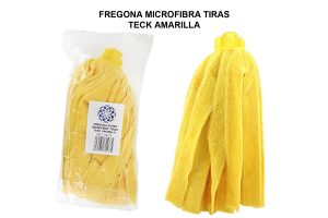 FREGONA MICROFIBRA TIRAS AMARILLA ANONIMA TECK