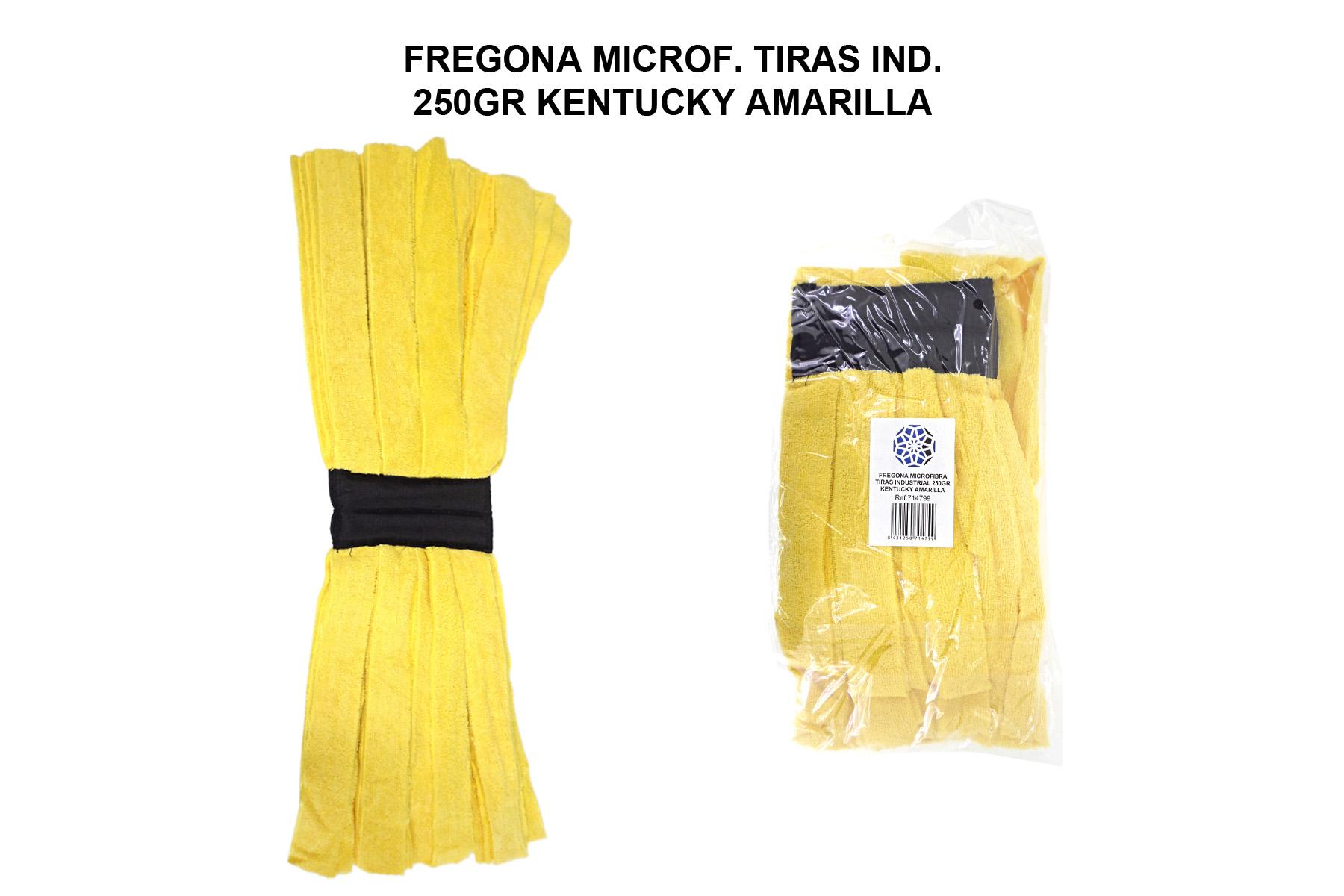 FREGONA MICROF. TIRAS IND. 250GR KENTUCKY AMARILLA