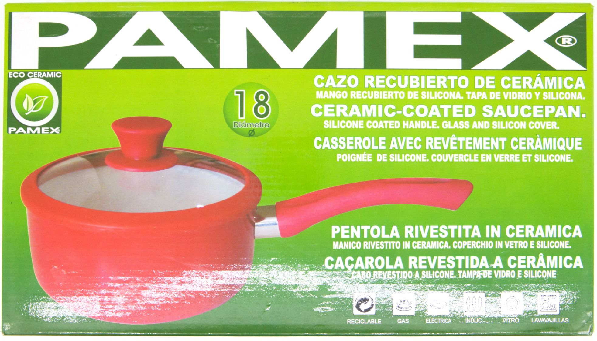 CAZO RECUBIERTO DE CERAMICA 18CM