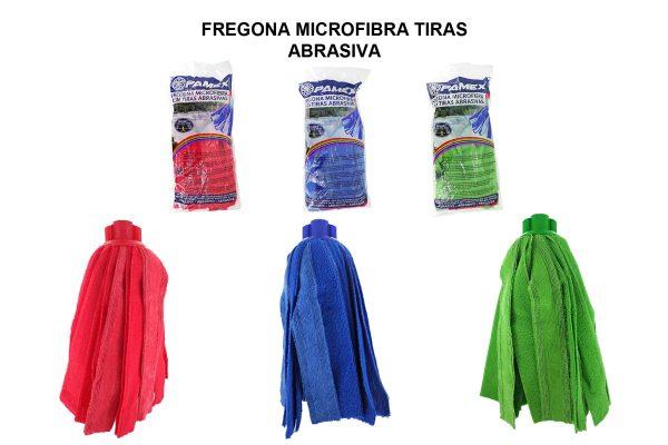 FREGONA MICROFIBRA TIRAS ABRASIVA