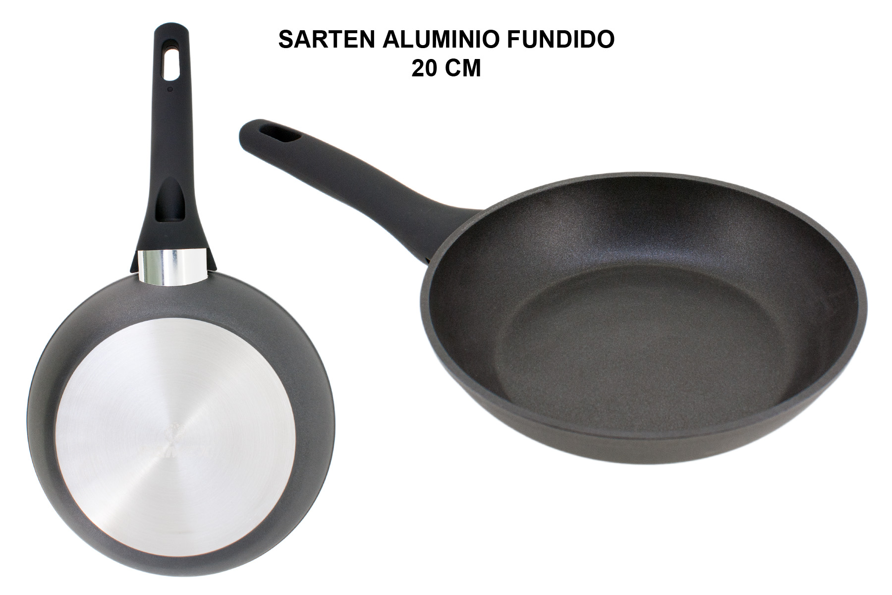 SARTEN ALUMINIO FUNDIDO FULL INDUCTION 20 CM