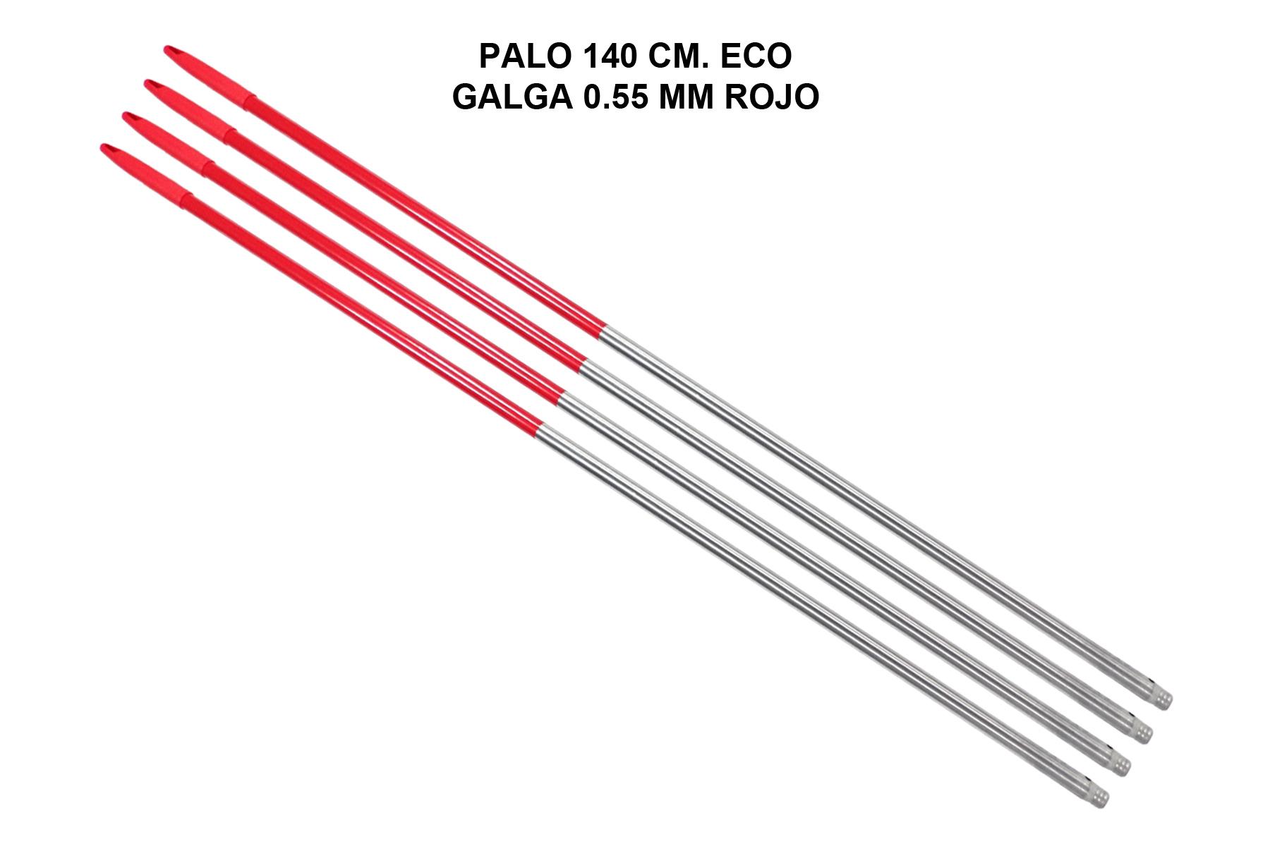 PALO 140 CM. ECO GALGA 0.55 MM ROJO