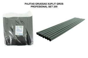 PAJITAS GRUESAS XUPLIT GROS PROFESIONAL SET 200
