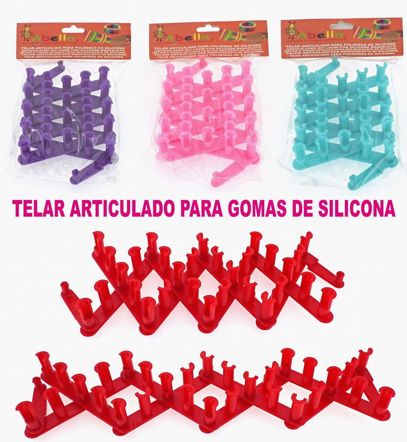 TELAR MANUAL ARTICULADO PULSERAS SILICONA