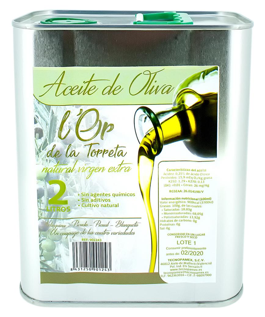 ACEITE OLIVA VIRGEN EXTRA 2L - L'OR DE LA TORRETA