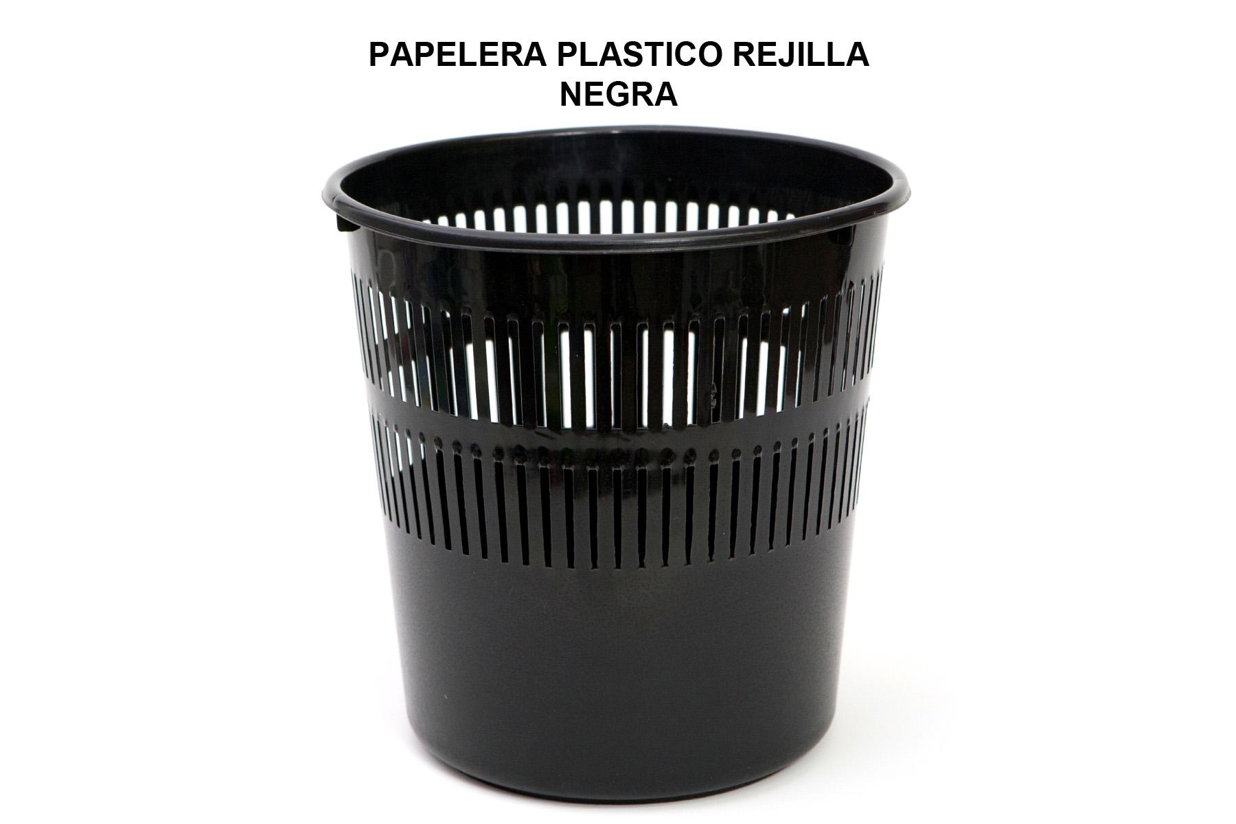 PAPELERA PLASTICO REJILLA NEGRA