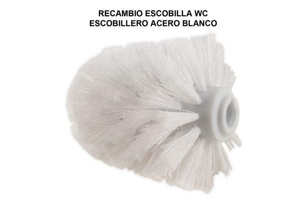 RECAMBIO ESCOBILLA WC ESCOBILLERO ACERO BLANCO