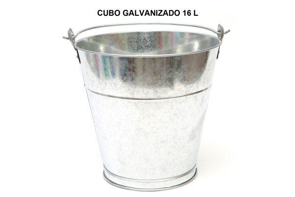 CUBO GALVANIZADO 16 L