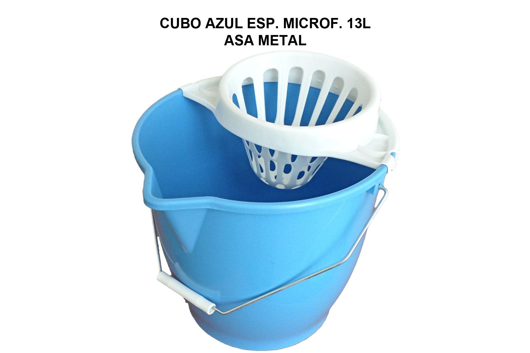 CUBO 13L ESP. MICROFIBRA AZUL ASA METAL C/ESC