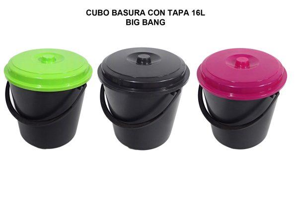 CUBO BASURA CON TAPA 16L BIG BANG
