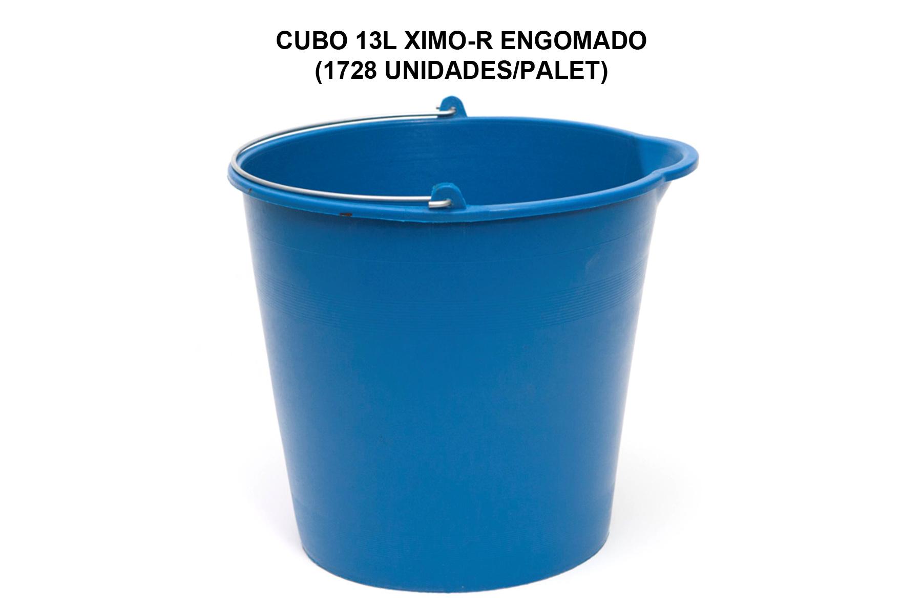 CUBO 13L XIMO-R ENGOMADO AZUL RECICLADO