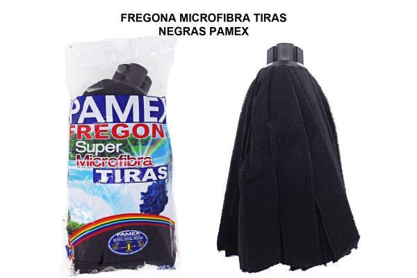 FREGONA MICROFIBRA TIRAS NEGRAS PAMEX