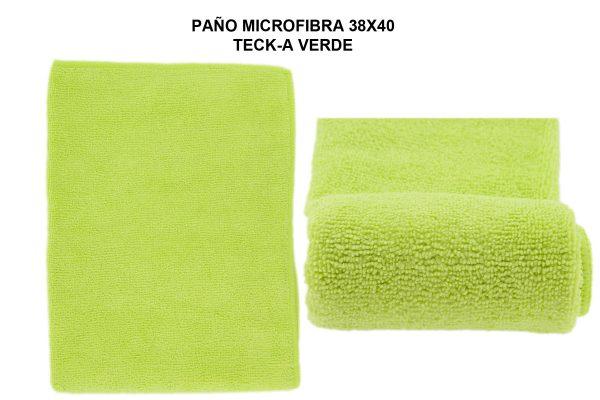 PAÑO MICROFIBRA 38X40 TECK-A VERDE