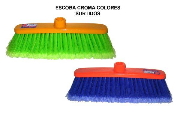 ESCOBA CROMA COLORES SURTIDOS