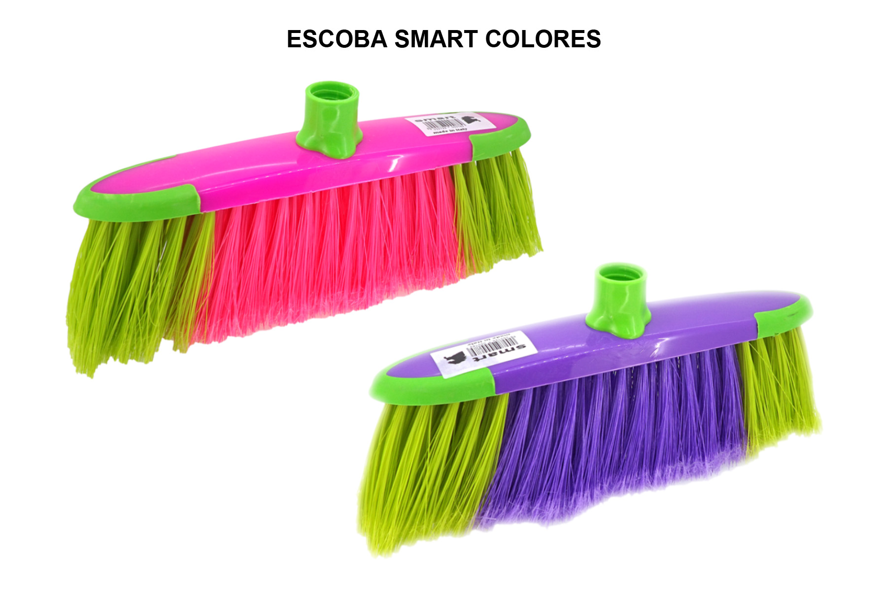 ESCOBA SMART COLORES S/PALO
