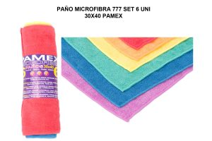 PAÑO MICROFIBRA 777 SET 6 UNI 30X40 PAMEX