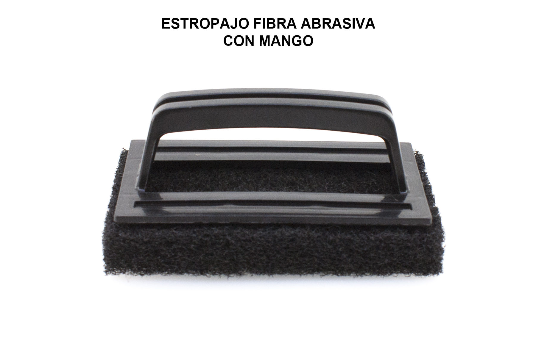 ESTROPAJO FIBRA ABRASIVA CON MANGO