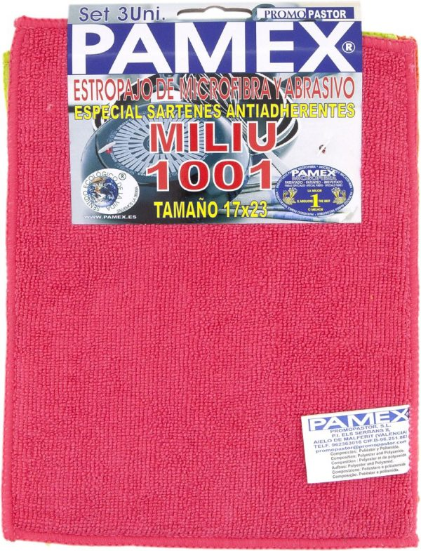 ESTROPAJO DE MICROFIBRA Y ABRASIVO MILIU 1001