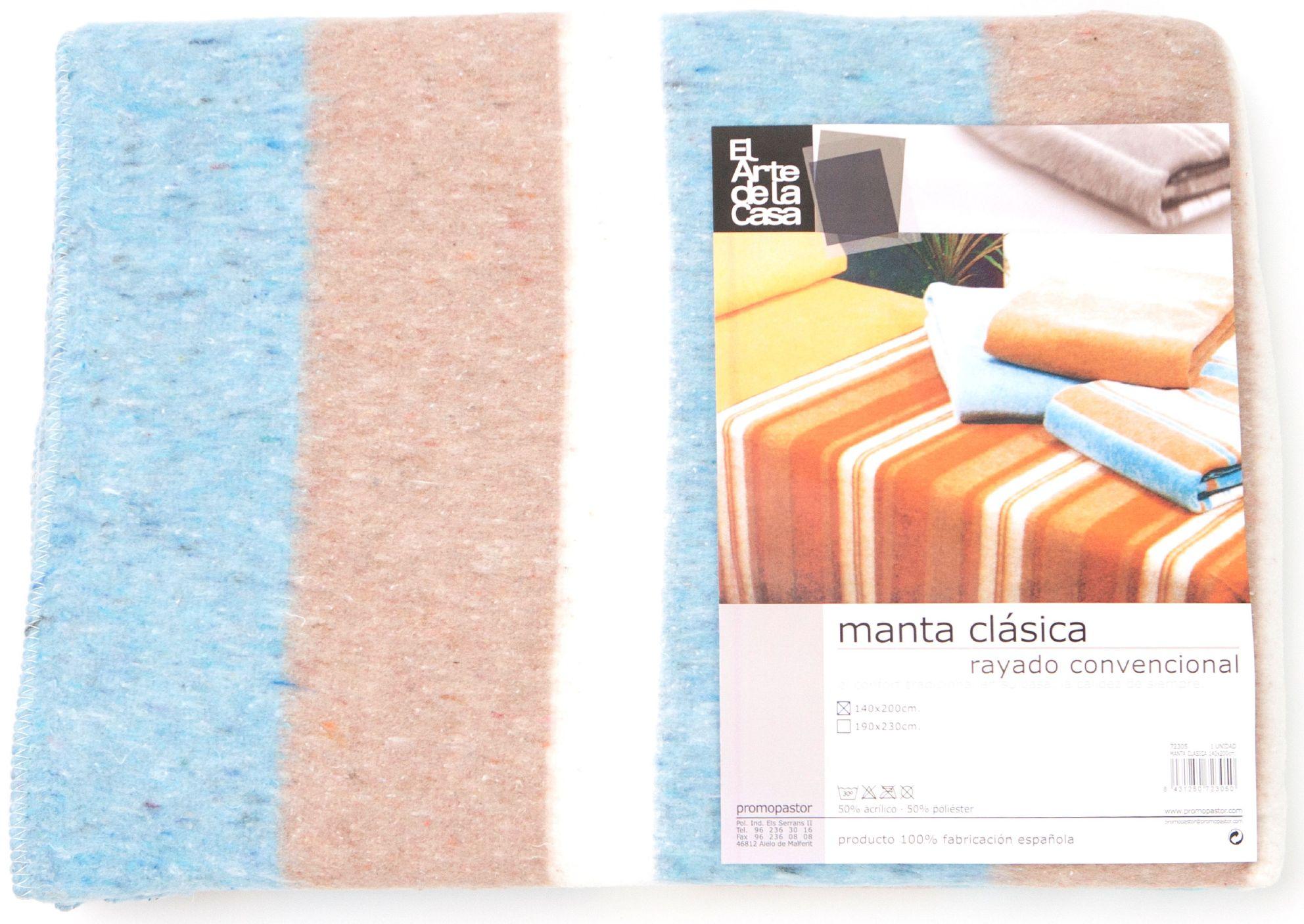 MANTA CLASICA 140x200