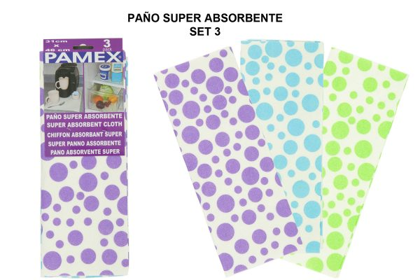 PAÑO SUPER ABSORBENTE SET 3