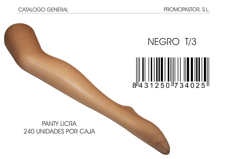 PANTY LICRA NEGRO T/3 .