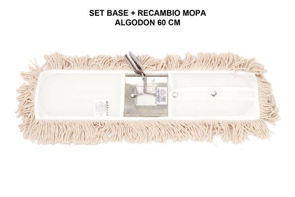 SET BASE + RECAMBIO MOPA ALGODON 60 CM