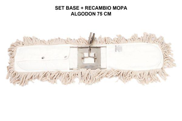 SET BASE + RECAMBIO MOPA ALGODON 75 CM