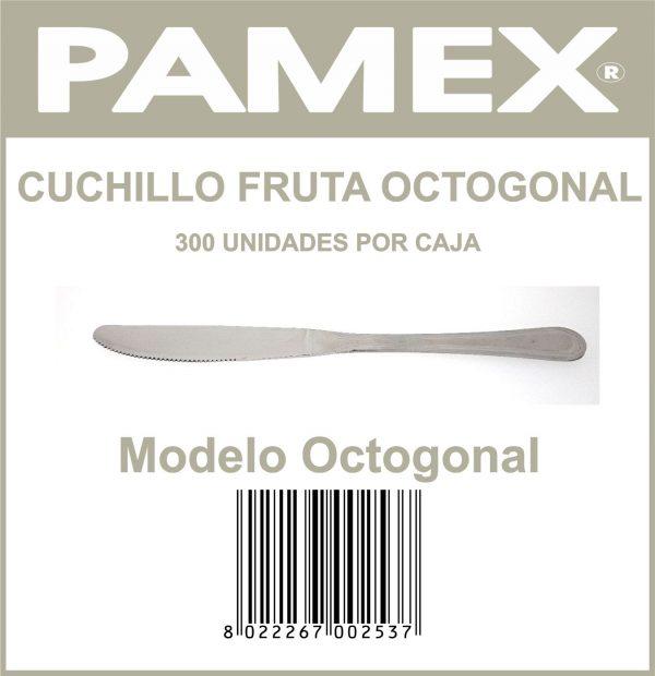 CUCHILLO FRUTA OCTOGONAL .