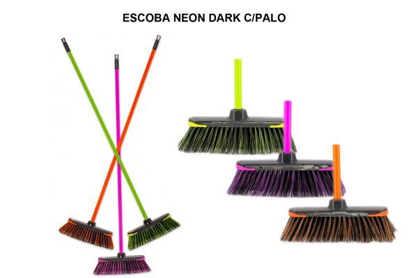 ESCOBA NEON DARK C/PALO