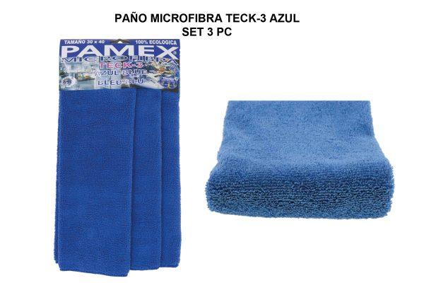 PAÑO MICROFIBRA TECK-3 - AZUL SET 3 PC