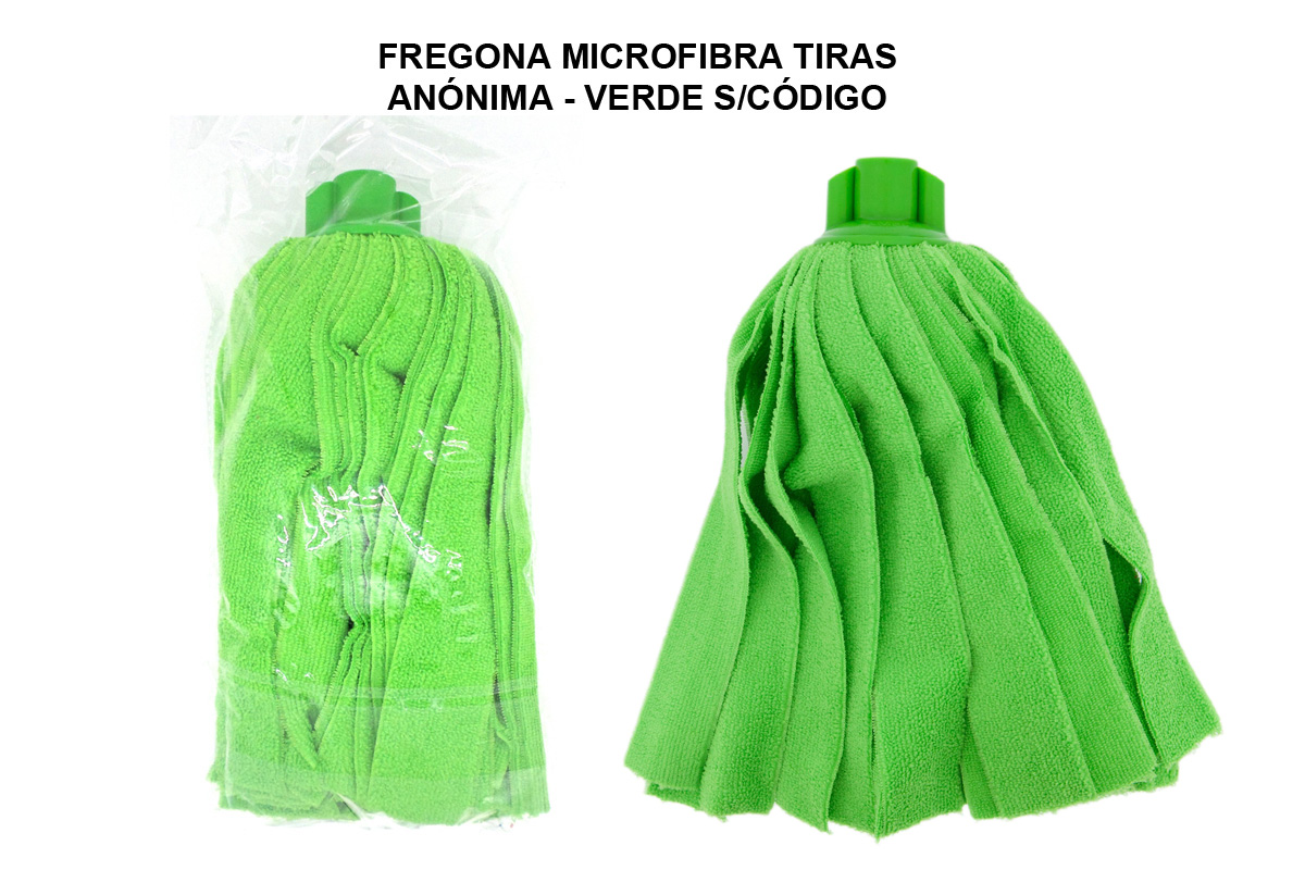 FREGONA MICROFIBRA TIRAS ANONIMA - VERDE S/CODIGO