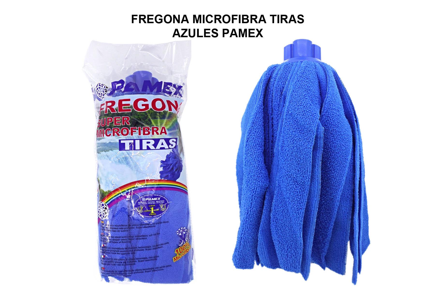FREGONA MICROFIBRA TIRAS AZULES PAMEX