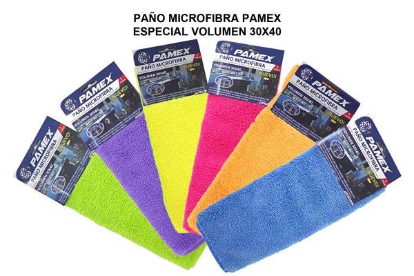 PAÑO MICROFIBRA PAMEX ESPECIAL VOLUMEN 30X40