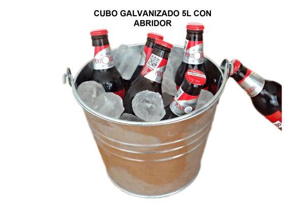 CUBO GALVANIZADO 5L CON ABRIDOR