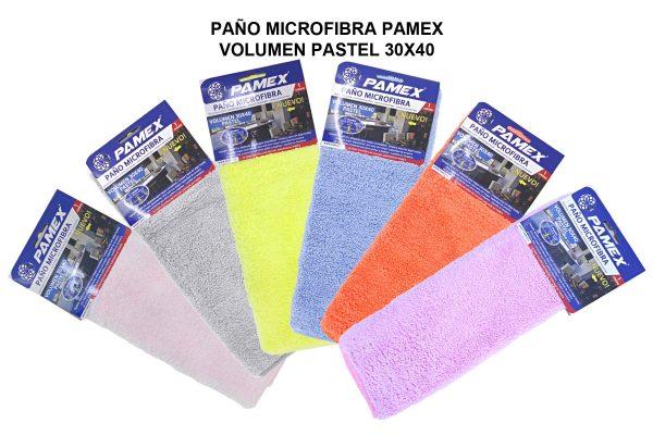 PAÑO MICROFIBRA PAMEX VOLUMEN PASTEL 30X40