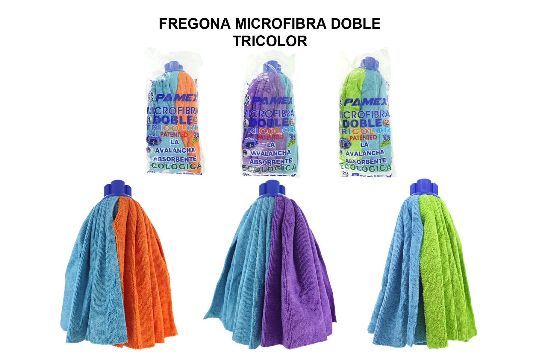 FREGONA MICROFIBRA DOBLE TRICOLOR