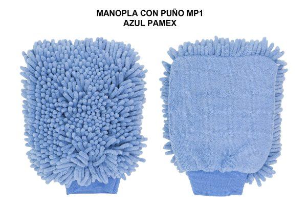 MANOPLA MICROFIBRA CON PUÑO MP1 AZUL PAMEX