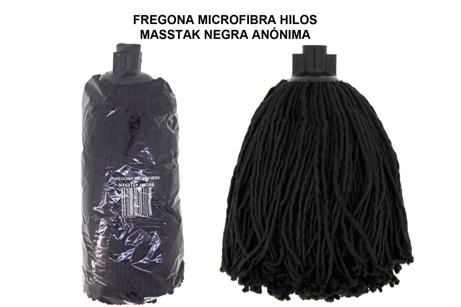 FREGONA MICROFIBRA MASSTAK NEGRA ANONIMA
