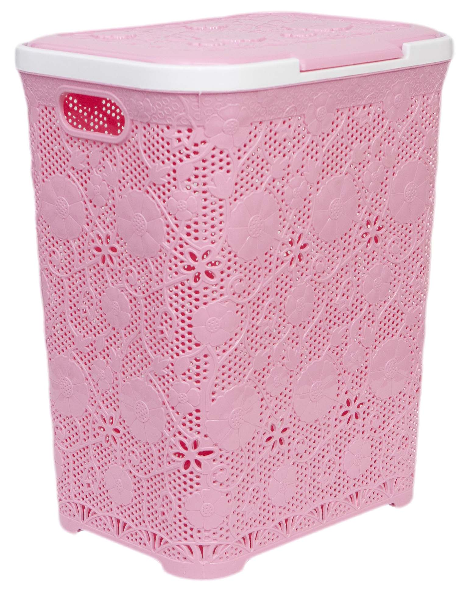 CESTO 60L FLOWER POWER ROSA