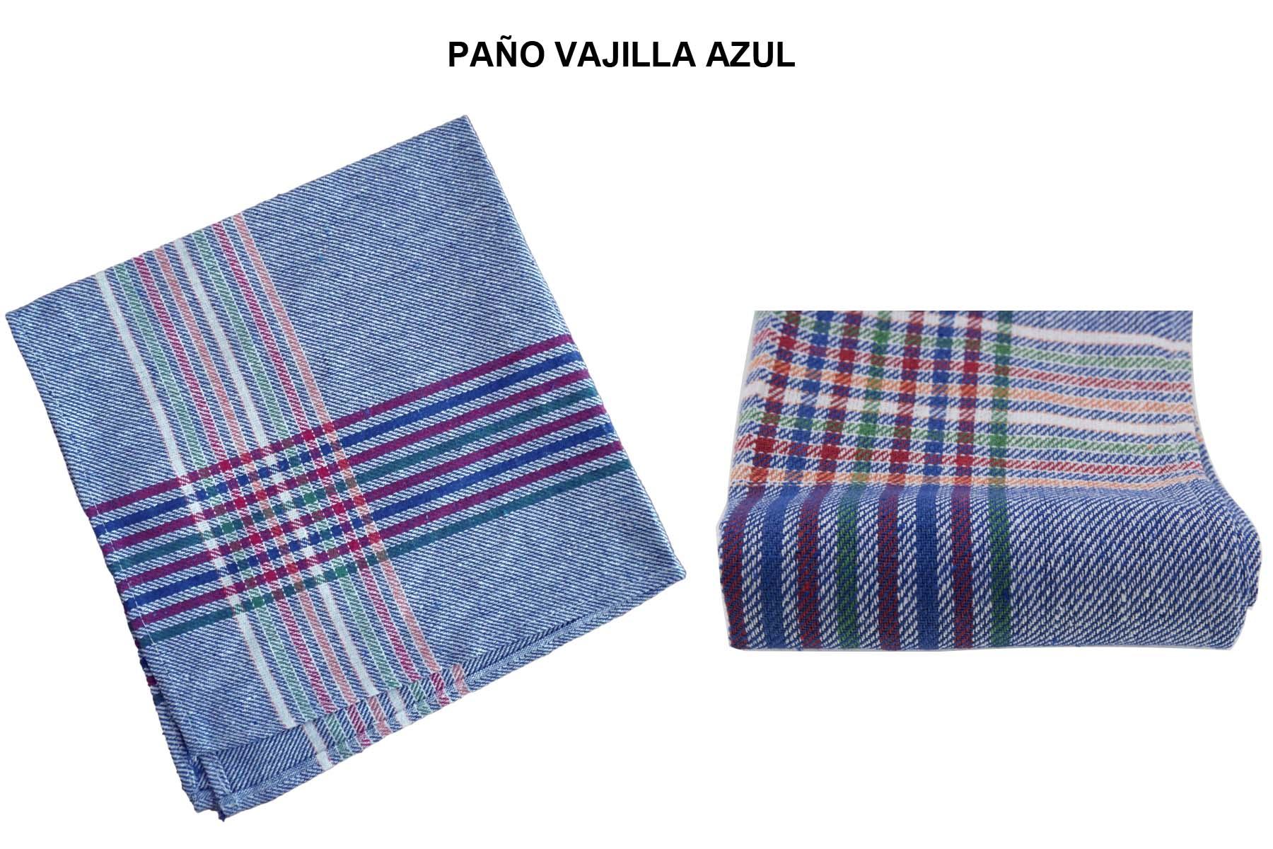 PAÑO VAJILLA AZUL