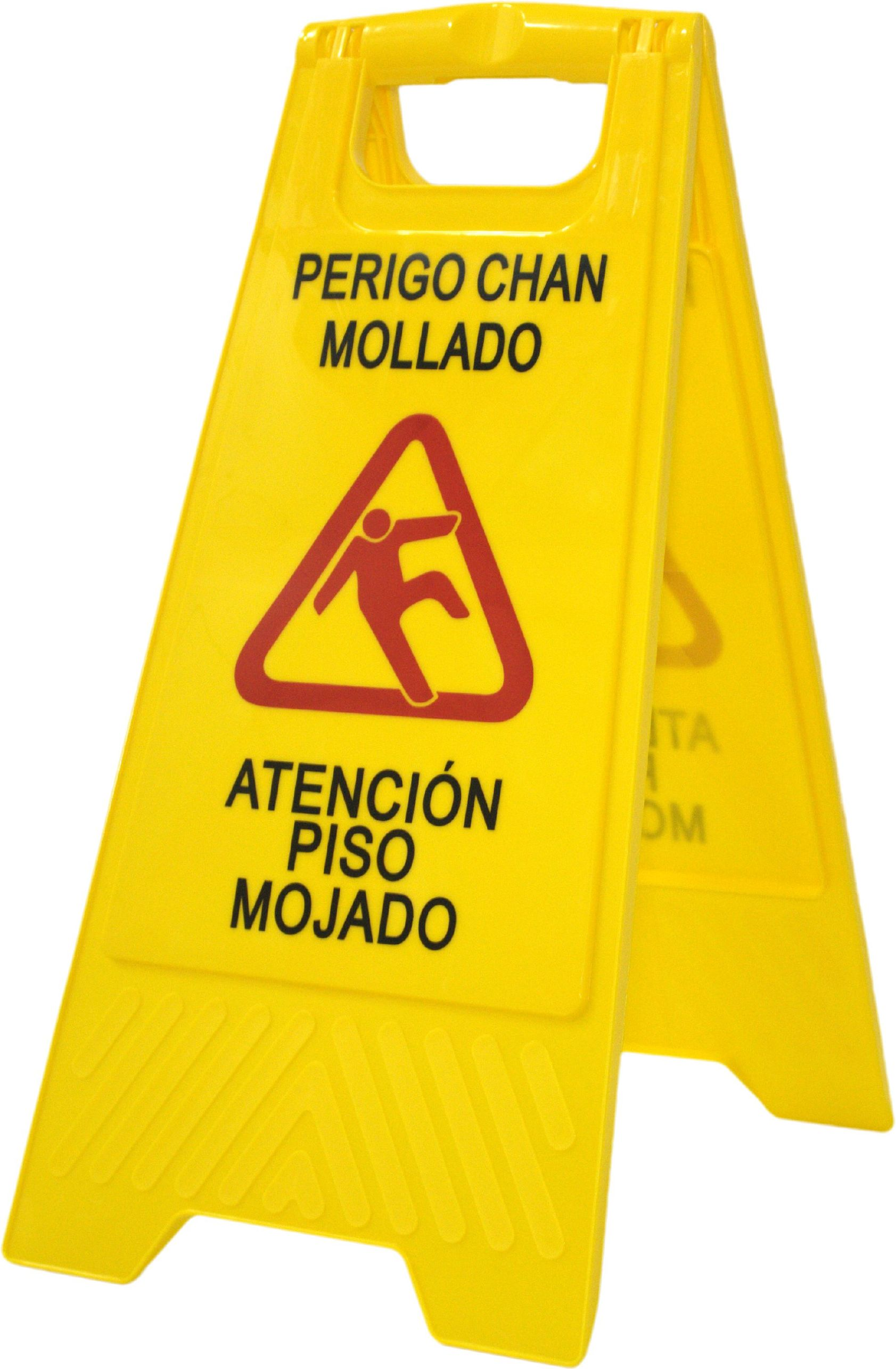 SEÑAL SUELO MOJADO (GALLEGO-CASTELLANO)