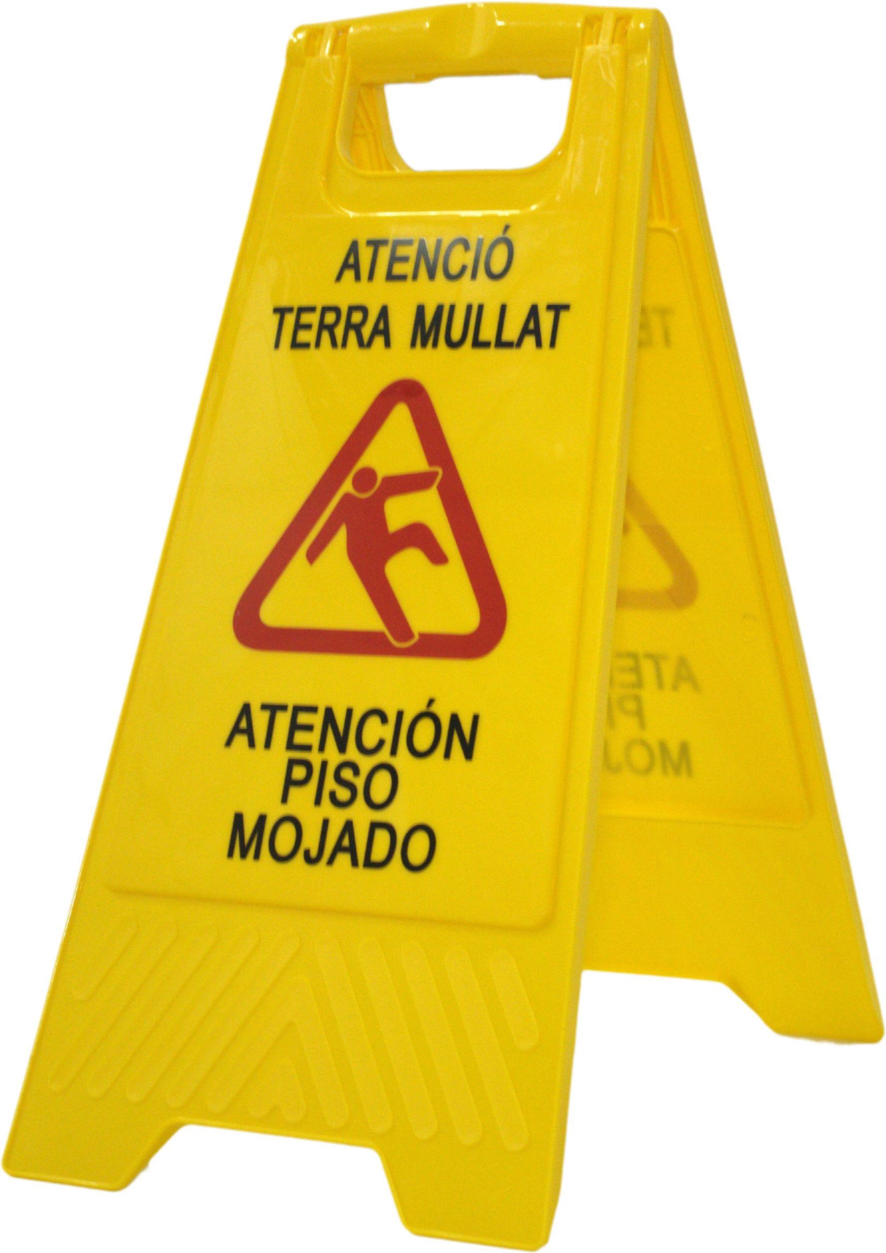 SEÑAL SUELO MOJADO (CATALÀ-CASTELLANO)