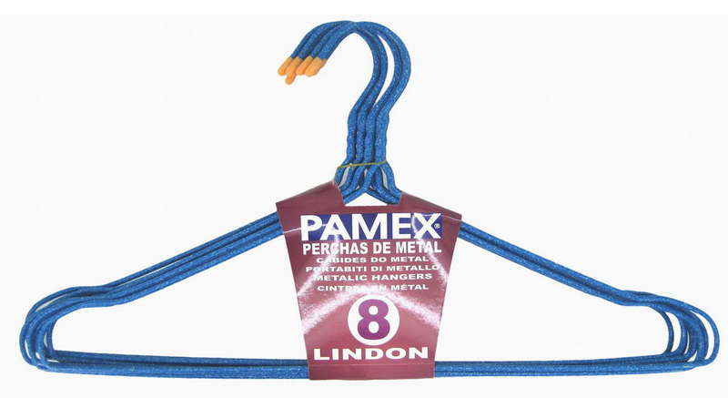 PERCHA METAL LINDON PAMEX SET 8