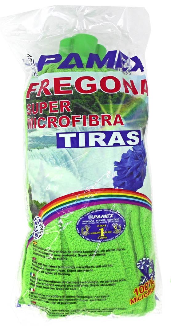 FREGONA MICROFIBRA TIRAS VERDE PAMEX