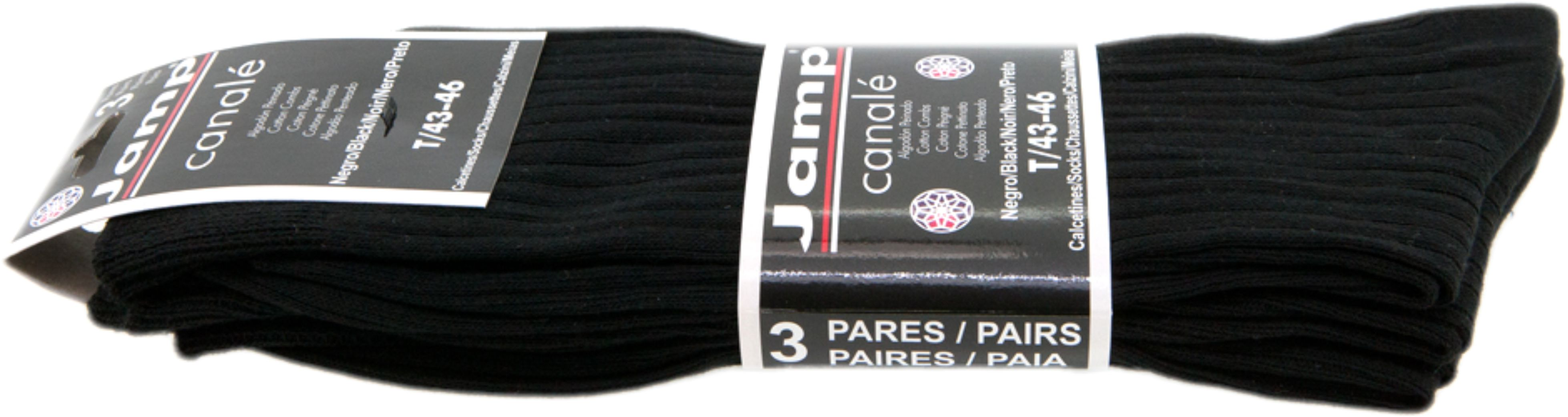 CALCETIN CANALE T/43-46 NEGRO