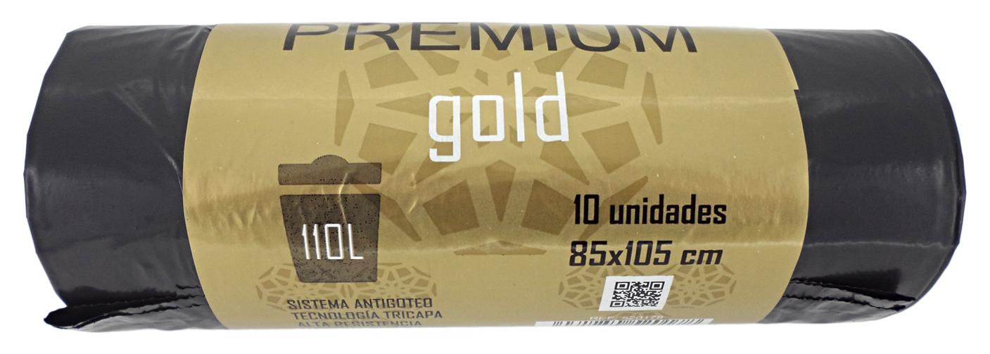 BOLSA BASURA PREMIUM GOLD 85X105CM SET 10