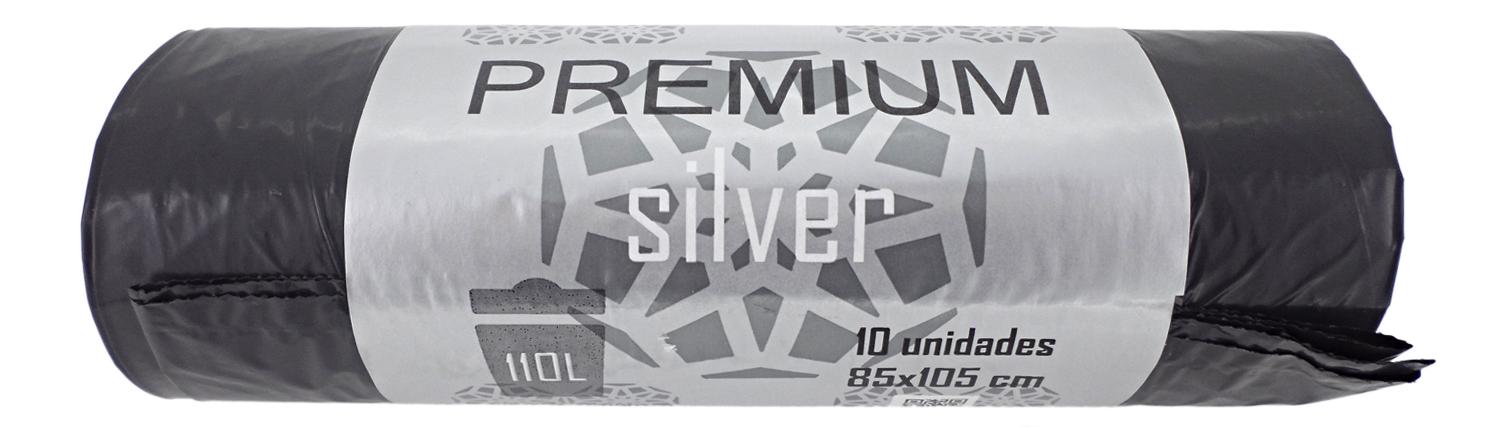 BOLSA BASURA PREMIUM SILVER 85X105CM SET 10