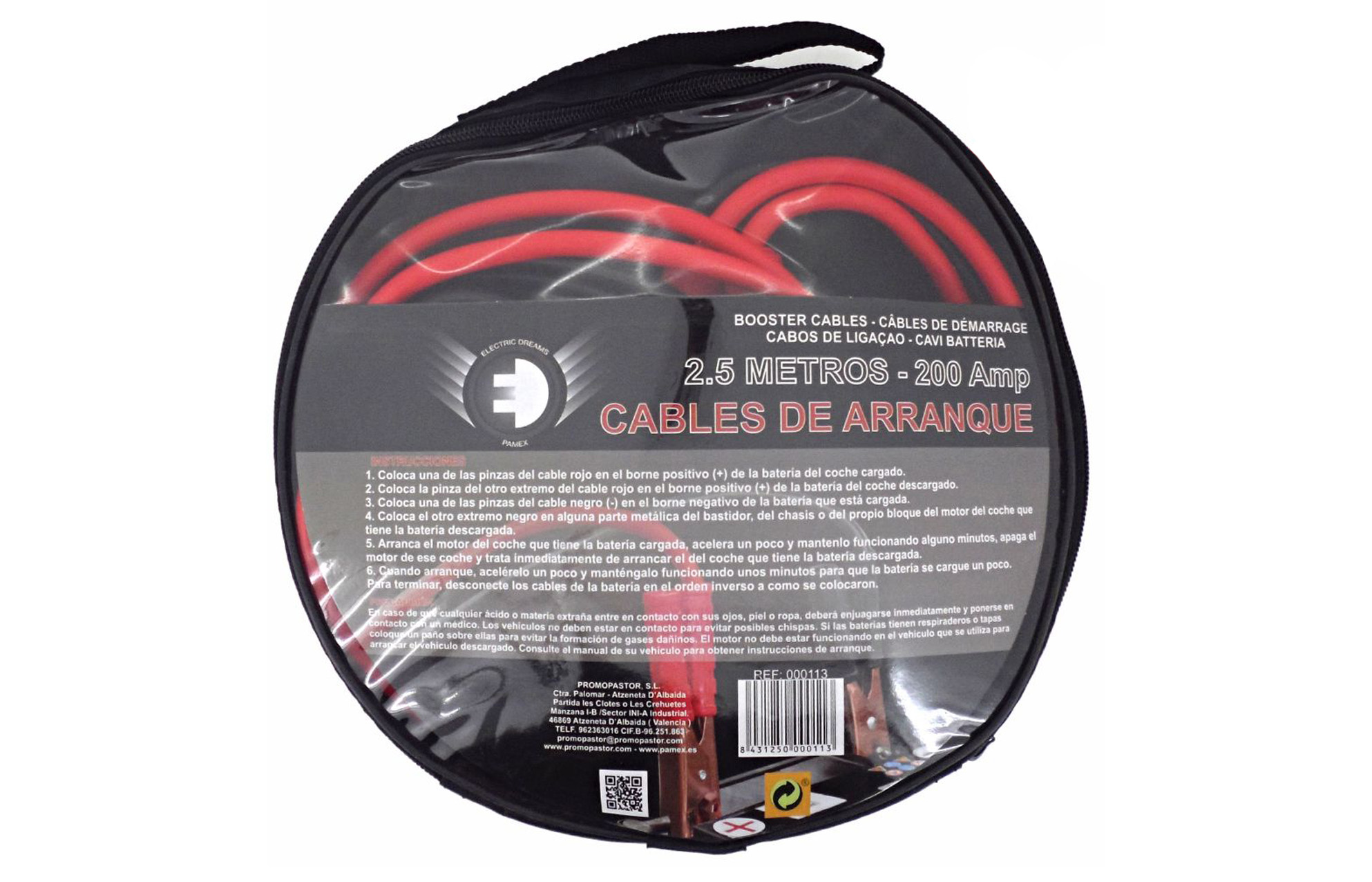 CABLES DE ARRANQUE 2.5 M